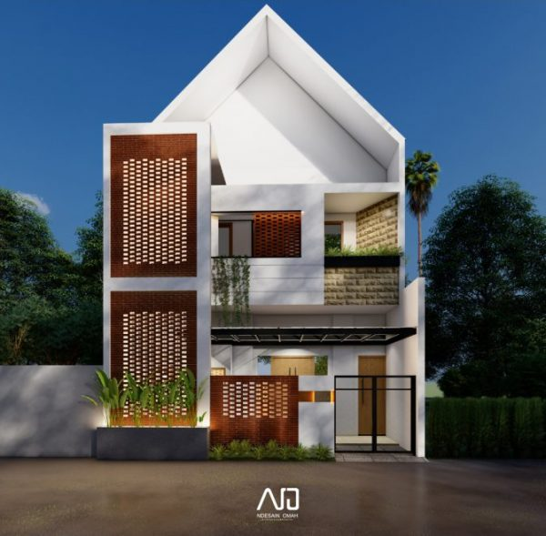 Desain rumah hadap barat-arsitektur bata-rumah kos-ndesainomah