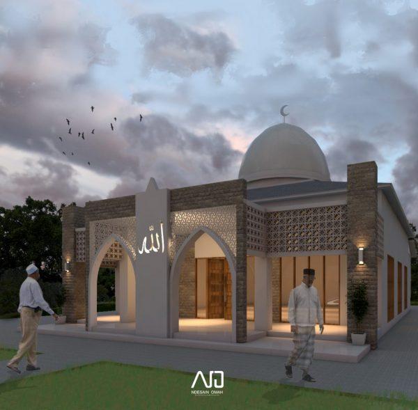 Masjid Sragen-Desain Masjid Modern Tropis-ndesainomah
