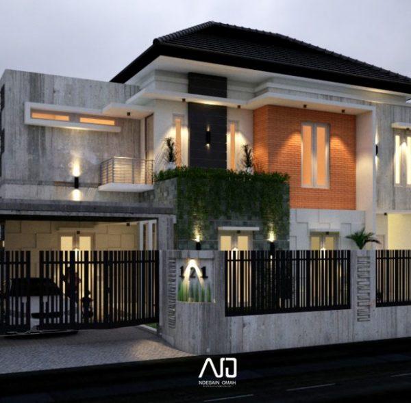 Rumah Blitar-Desain modern tropis-kontemporer-ndesainomah