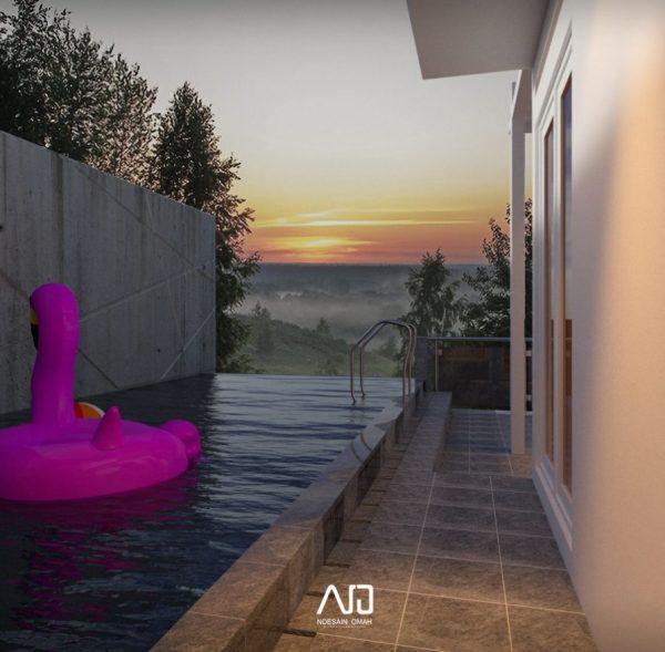 Villa Batu-Desain villa-Desain kolam-ndesainomah
